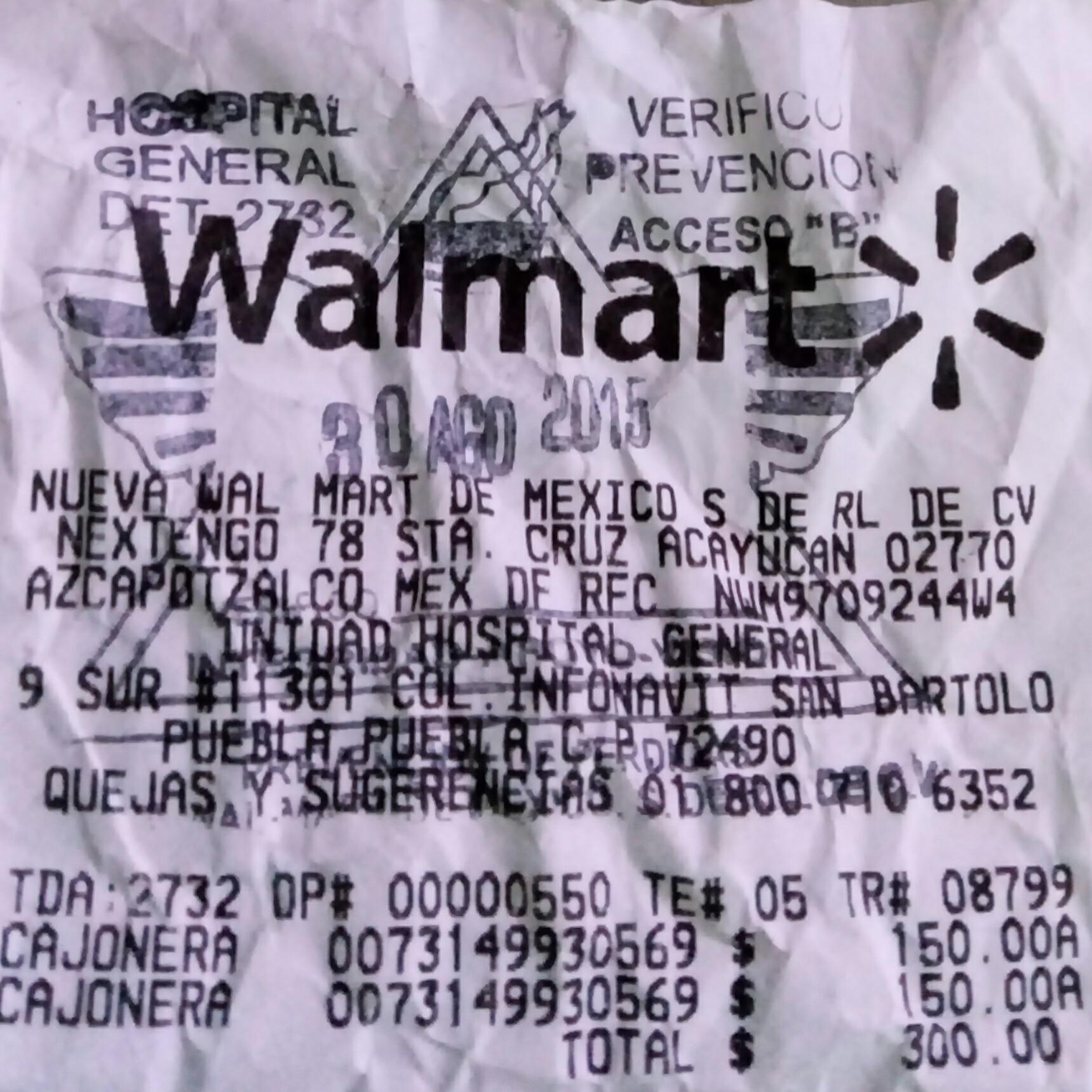Walmart: Cajonera Sterilite, 3 niveles (color verde) a $150