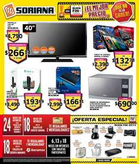 Folleto de ofertas del Buen Fin 2013 en Soriana