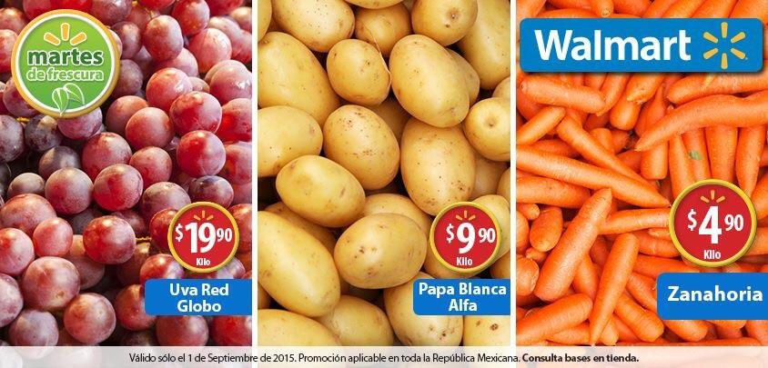 Martes de frescura en Walmart septiembre 1: Papa Blanca Alfa a $9.90 el kilo el kilo y más