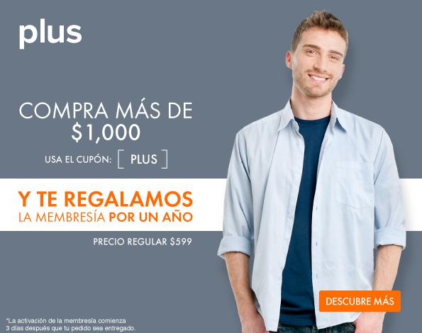 LINIO: Membresia Linio Plus Gratis por un año Comprando mas de $1,000