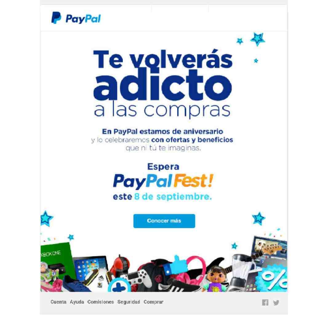 PAYPAL FEST: promete Smartphones a 5 pesos desde el 8 DE SEPTIEMBRE