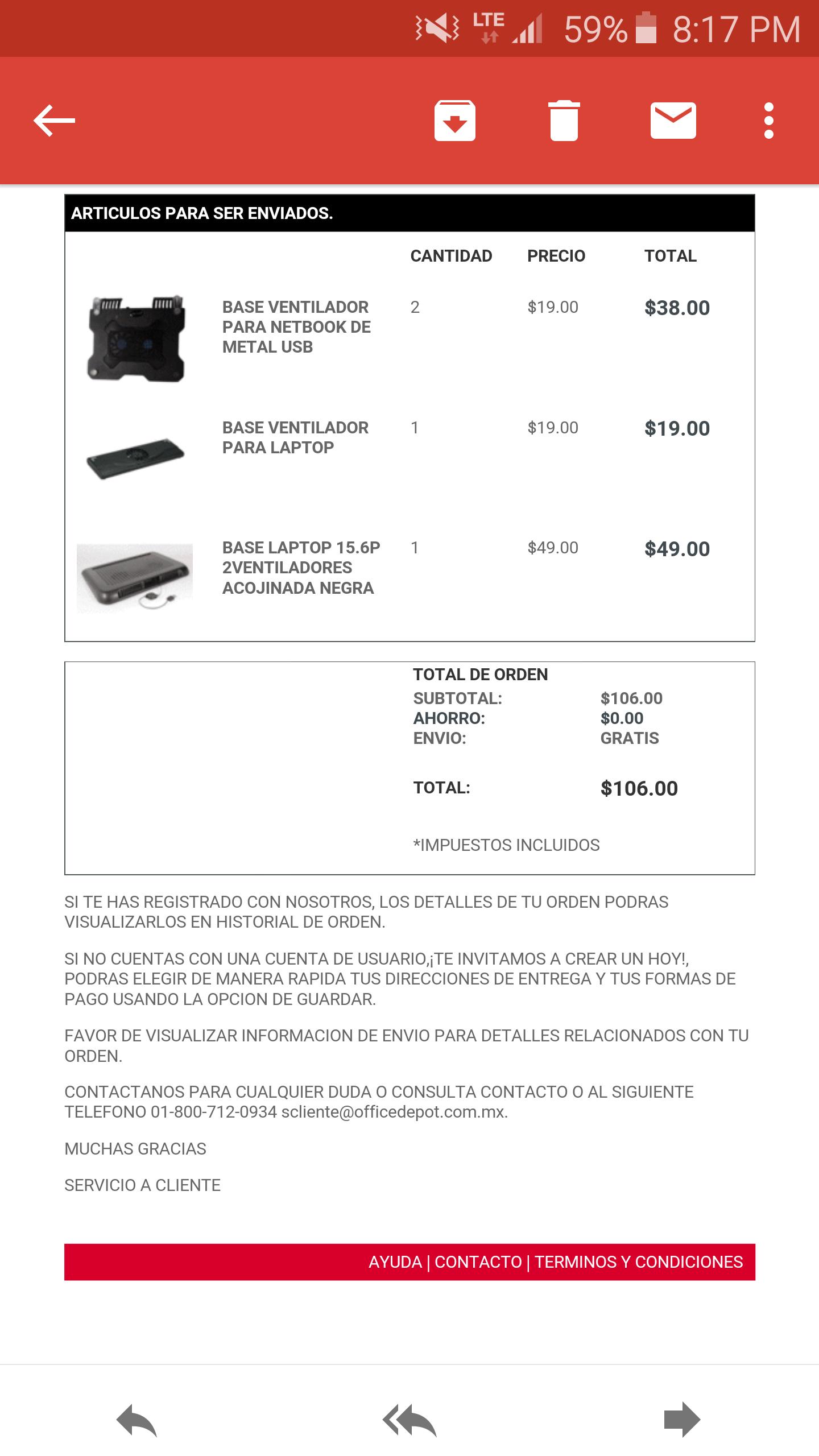 Office Depot: ventiladores para laptops de $19 y $49 pesos