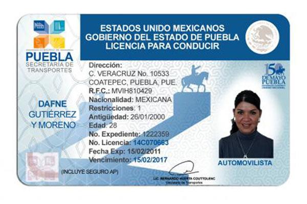 En Puebla, habrá licencias permanentes; costarán mil 950 pesos