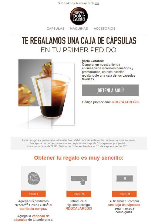 Dolce-gusto en linea::  1 caja de capsulas gratis en primer compra