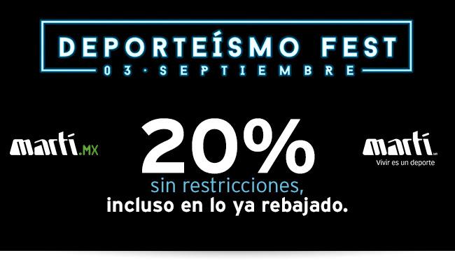 Martí: 20% de descuento y MSI Sólo hoy