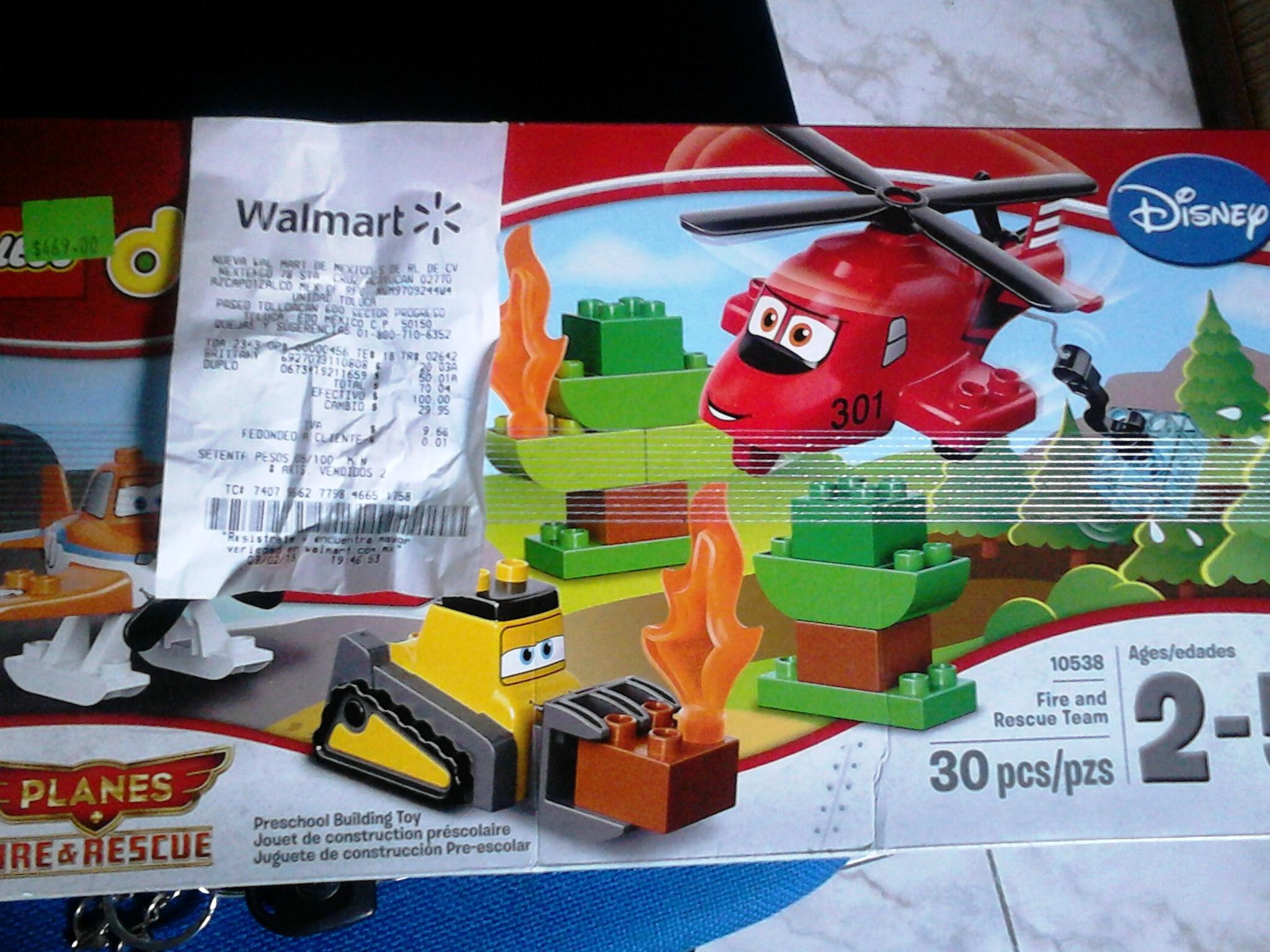 Walmart: Lego Duplo Set de Aviones Equipo de Rescate a $50.01