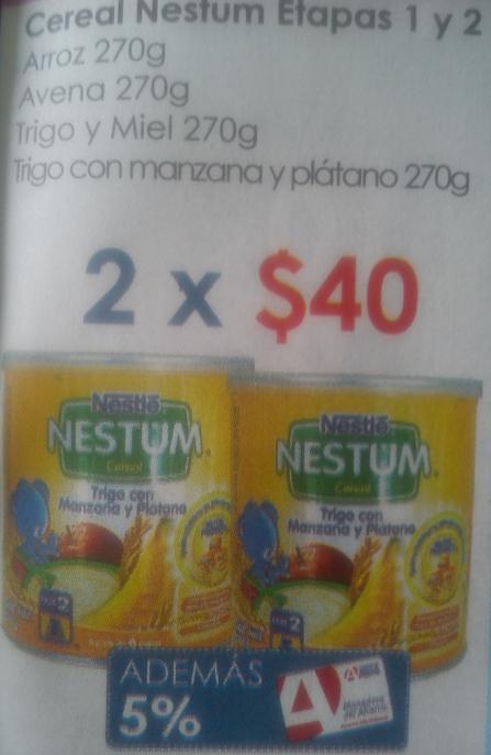 FARMACIA DEL AHORRO.- Cereal Nestum 2 latas de 270 grs a 40 pesos y varias ofertas más.