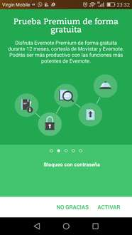 EVERNOTE 12 MESES GRATIS CON MOVISTAR Y VIRGIN MOBILE