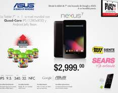Ofertas del Buen Fin 2013: tablet Nexus 7 de 32GB $2,999