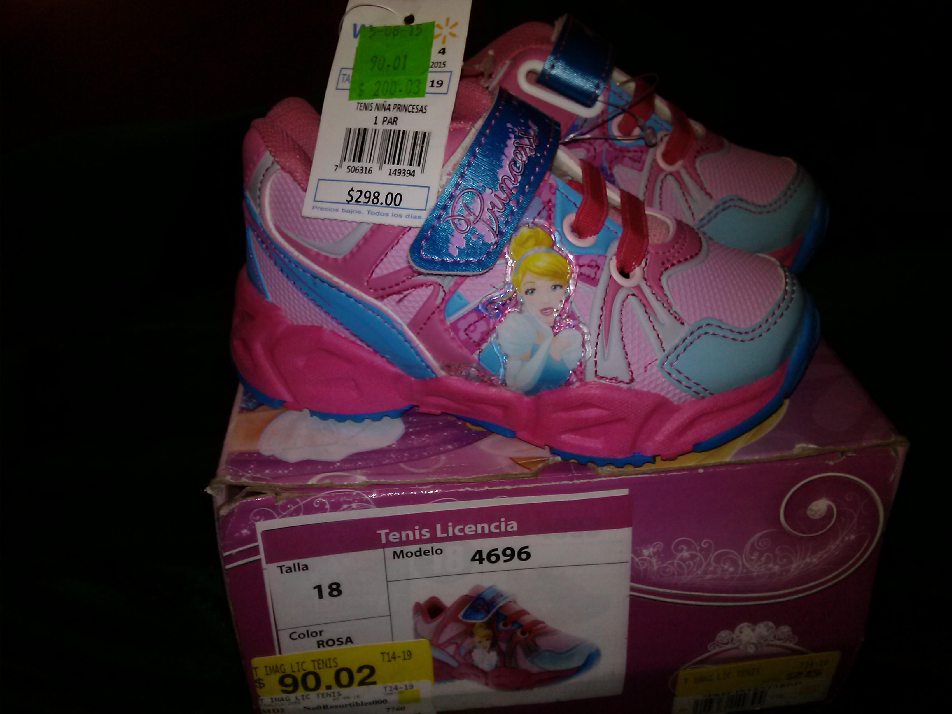 Walmart: tenis infantiles de Princesas en $90.01