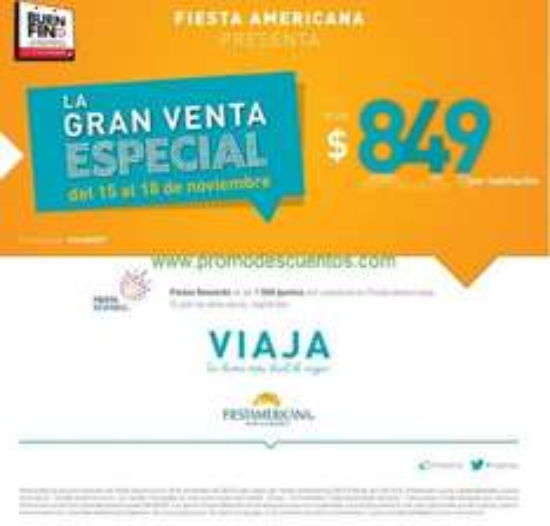 Ofertas del Buen Fin 2013 en hoteles Fiesta Americana, Fiesta Inn, One