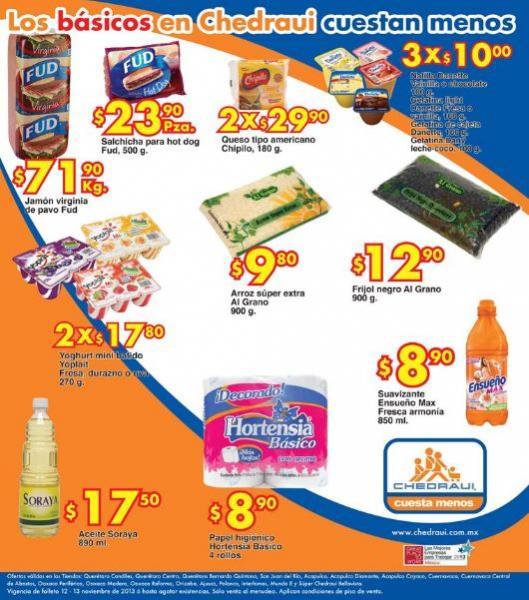 Ofertas de frutas y verduras Chedraui 12 y 13 de noviembre: plátano $3.90/Kg  y más