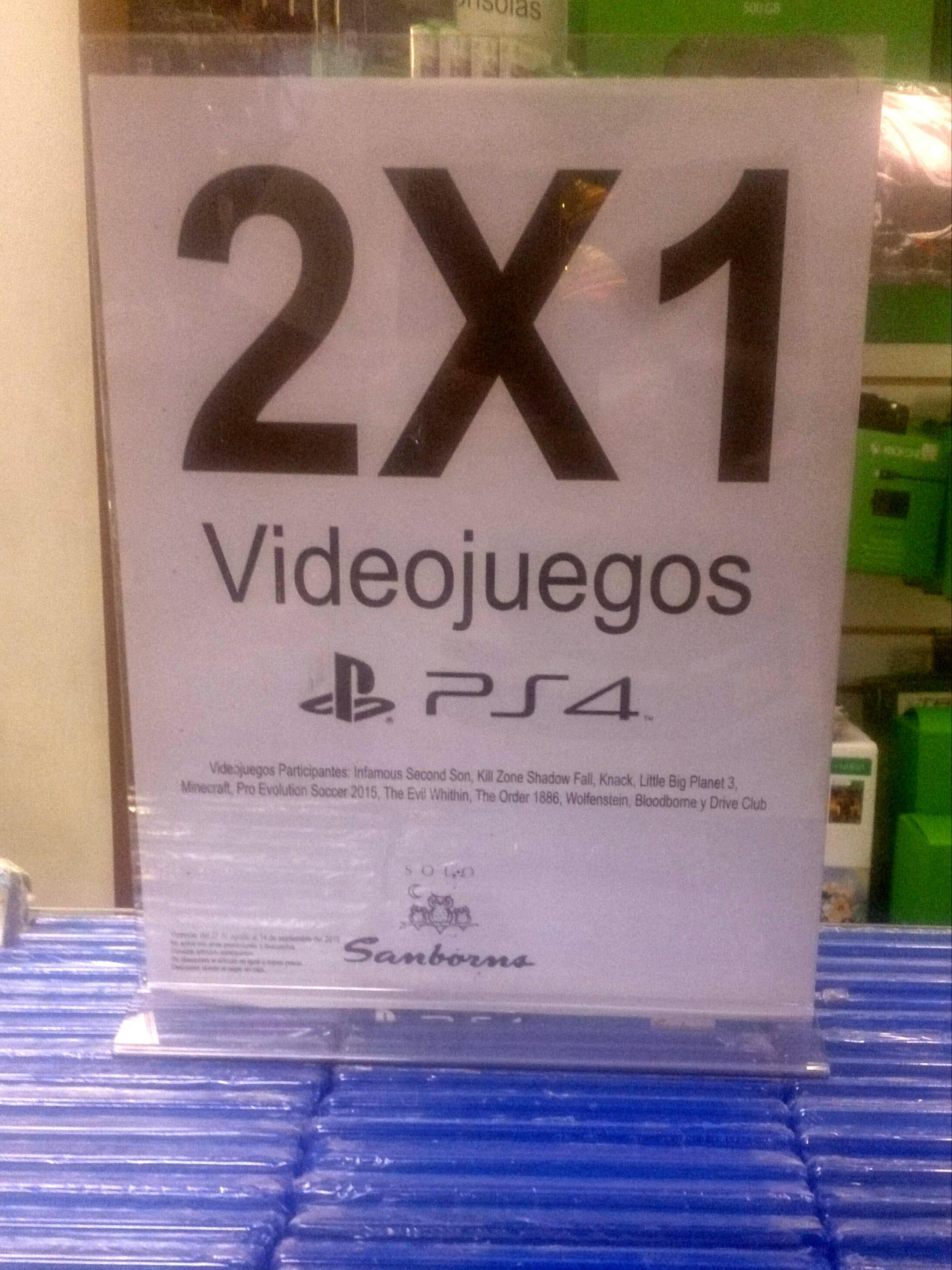 Sanborns: 2x1 Juegos PS4