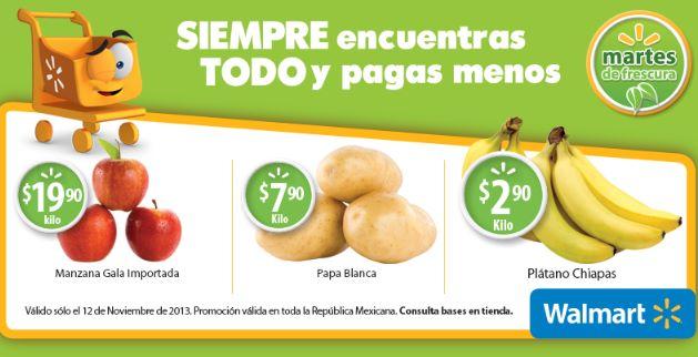 Martes de frescura en Walmart noviembre 12: plátano $2.90 el kilo y más
