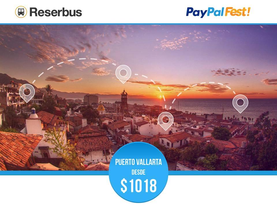 10% de descuento + 3 o 6 msi con Paypal en Reserbus.mx