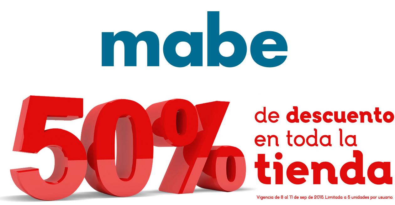 Tienda online Mabe: 50% de descuento
