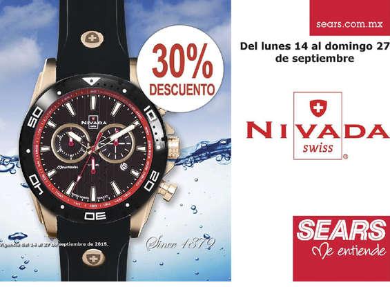 Sears: 30% de descuento en relojes Nivada (del 14 al 27 de septiembre)
