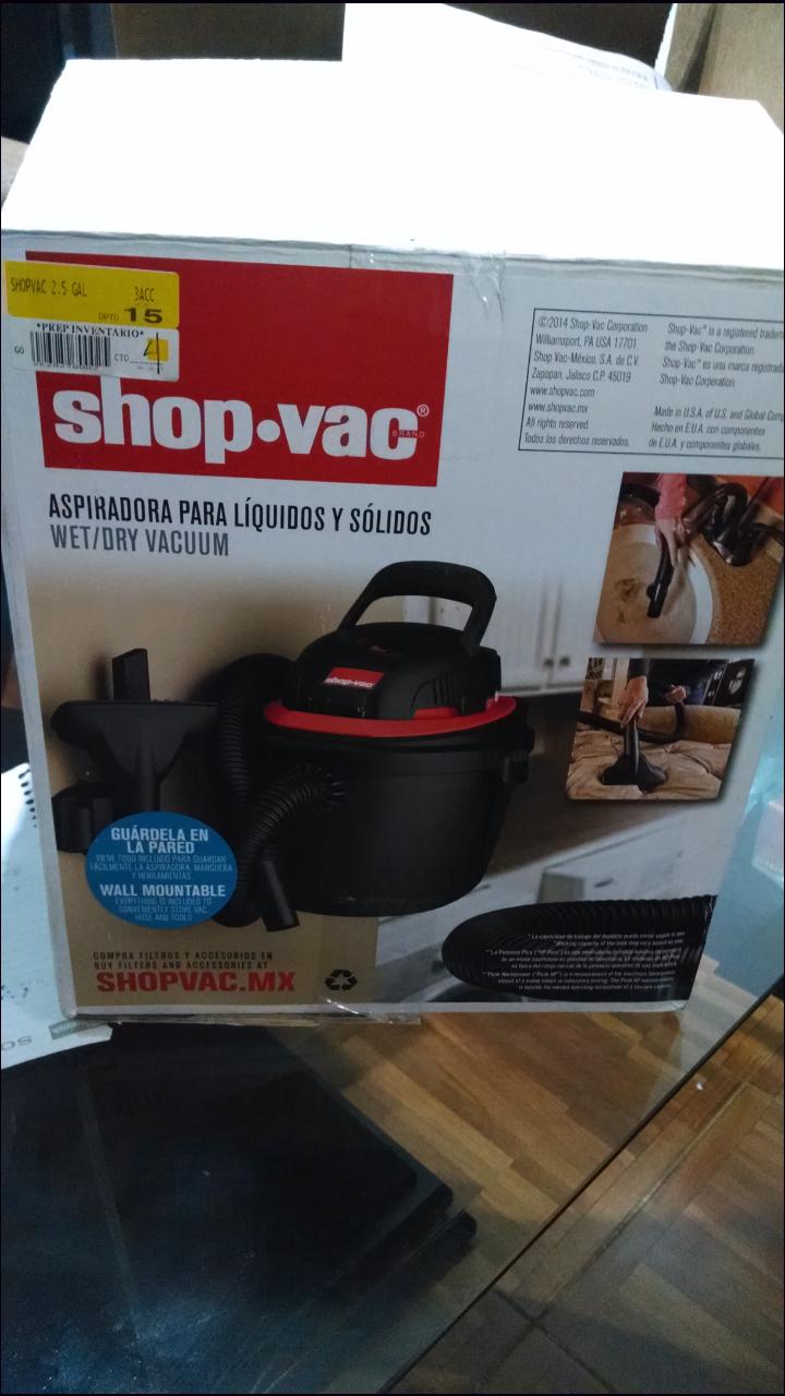 Walmart: Aspiradora shop-vac 9.4lts a $379.03