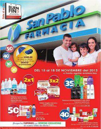 Ofertas del Buen Fin 2013 en Farmacias San Pablo