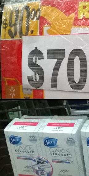Walmart antitranspirante desodorante Secret clinical strength 2x$70