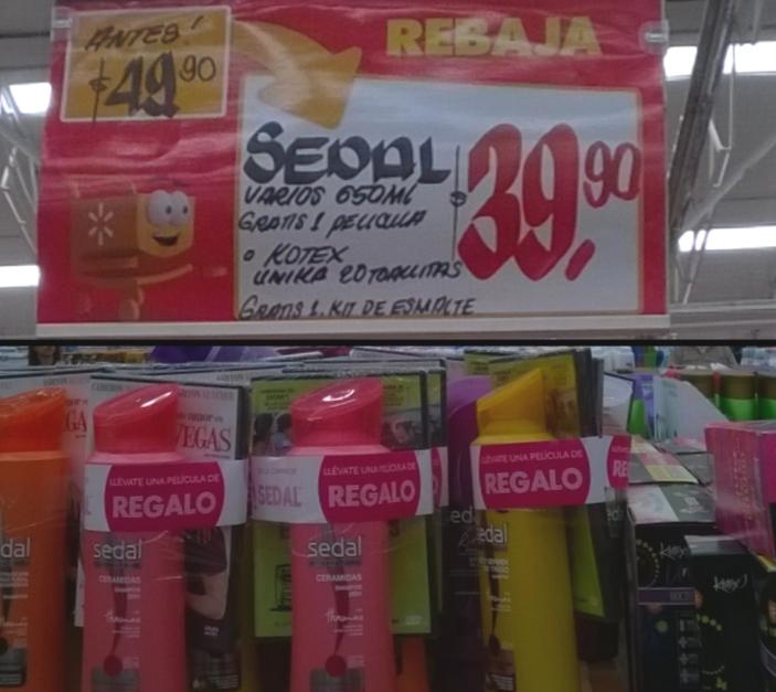 walmart shampoo sedal y dvd de regalo a 39