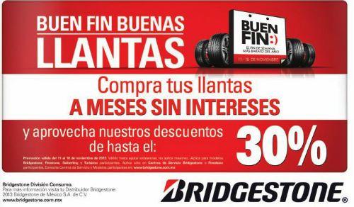 Ofertas del Buen Fin 2013 en llantas Bridgestone