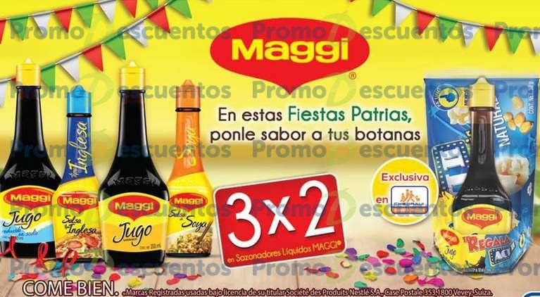 Chedraui: 3x2 en salsas Maggi (+ palomitas gratis) y sopas La Moderna