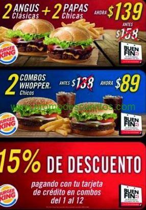 Ofertas del Buen Fin 2013 en Burger King