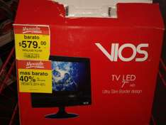 "Mercado Soriana: Television LED 7"" Remate 40%"