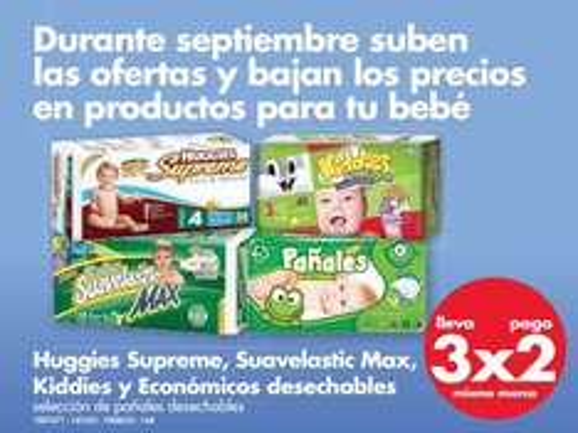 Farmacias Benavides: 3x2 en selección de pañales, desodorantes, limpiadores y más
