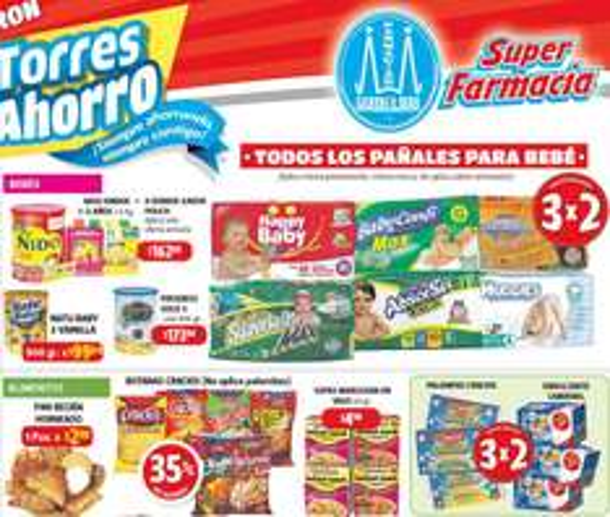Farmacias Guadalajara: 3x2 en todos los pañales, Candereal, toallas Always y más