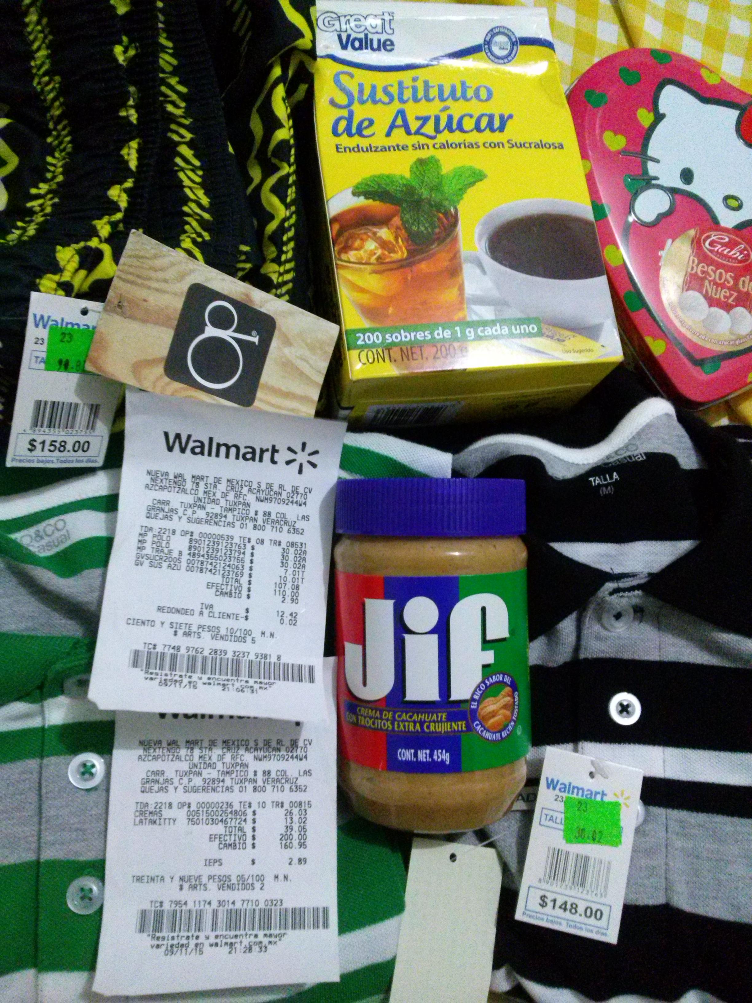 Walmart: varias liquidaciones de ropa y otras...