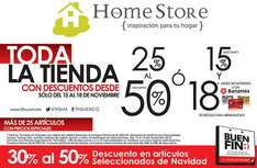Ofertas del Buen Fin 2013 en The Home Store