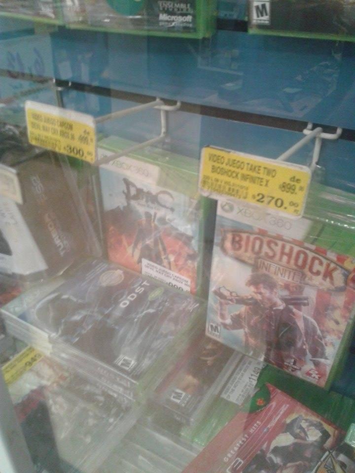 Soriana: Bioshock Infinite $270, DMC $300, Hitman HD Trilogy $240 y más