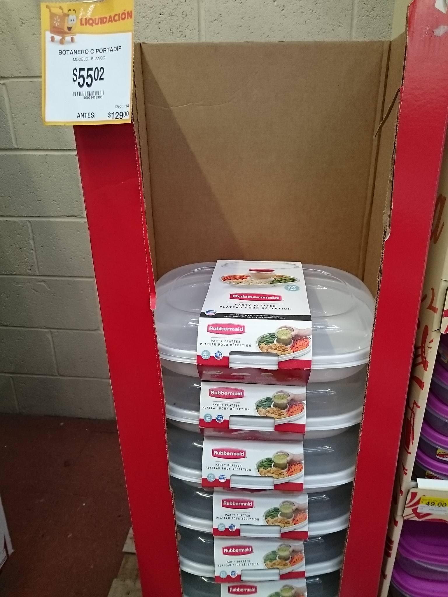 Walmart (Eduardo Molina): Botanero con Portadip $55.02