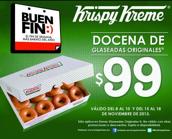 Ofertas del Buen Fin 2013 en Krispy Kreme