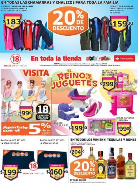 Soriana: 20% de descuento en rones, tequilas, chamarras y más