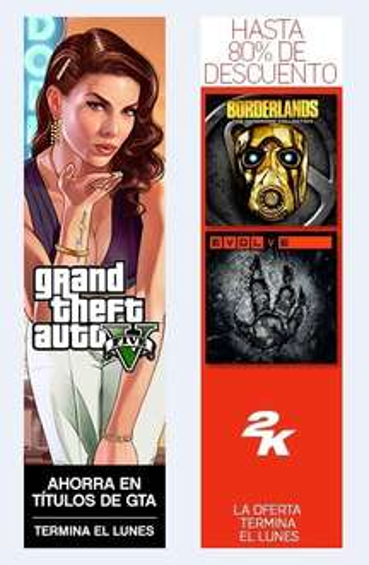 PS Store: GTA Sale & 2K Sale | Hasta 80% de Descuento