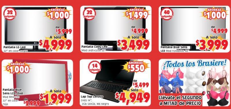 """Mercado Soriana: pantalla LED 40"""" $3,999, 2 por 1 y medio en brassieres y más"""
