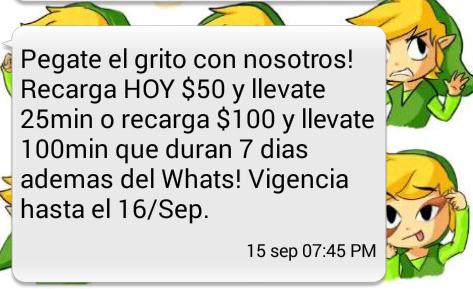 Virgin: Recarga $50 y obten 25 mins Gratis / Recarga $100 y obten 100 mins Gratis [Ambos con Whatsapp gratis x 30 dias]