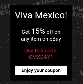 eBay: Viva México! 15% de descuento