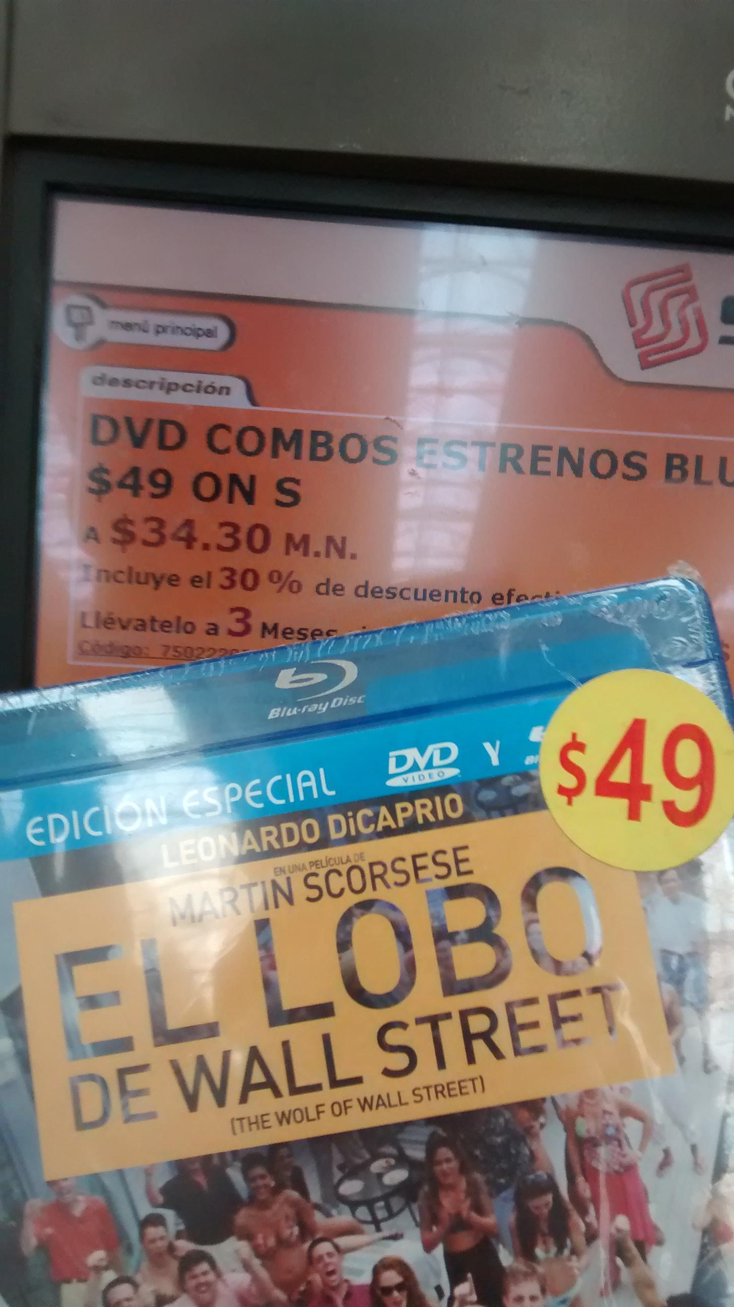 Soriana Hiper: El Lobo De Wall Street Blu Ray + DVD a 34.30