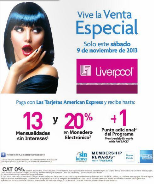 Venta especial Liverpool con American Express