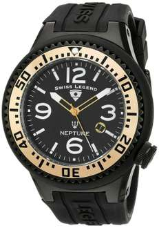 Amazon: reloj Swiss Legend Men's 21818P-BB-01-GA Neptune Black Dial Black Silicone a $585