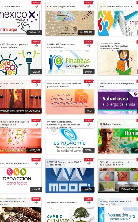 MexicoX: cursos en linea gratuitos con constancia de participacion IPN, UNAM y otros