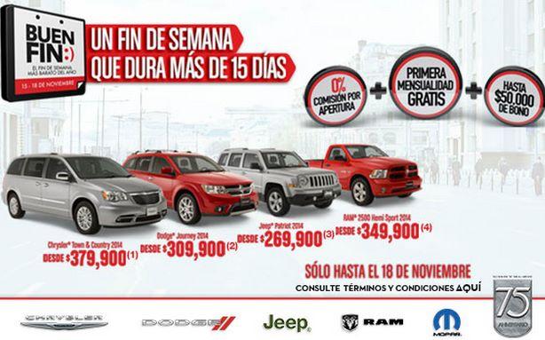 Ofertas del Buen Fin 2013 de Chrysler, Jeep, Dodge y RAM