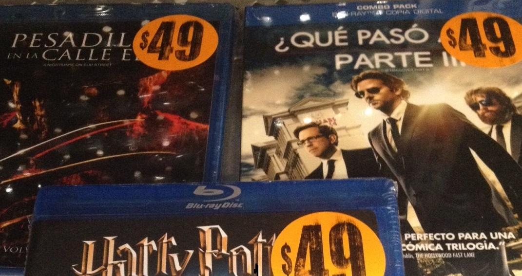 Bodega Aurrerá: Peliculas Bluray $49