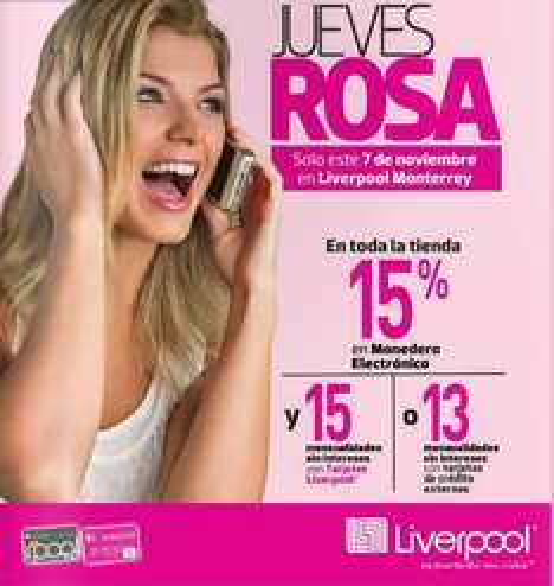 Jueves Rosa en Liverpool 7 de noviembre