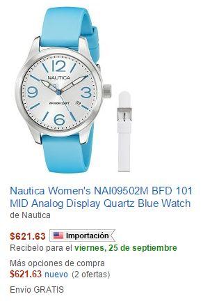 Amazon México Relojes Naútica $622