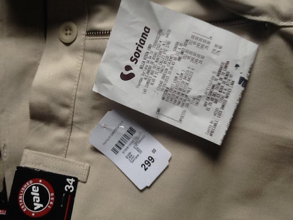 SORIANA: pantalón de vestir yale de 299 a 29.90